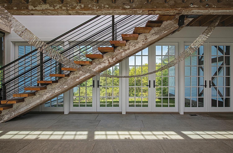 """Bridge"" Agneta Hobin, Contemporary Mica and Steel Woven Installation"