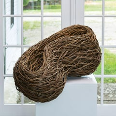 """Poise"" Laura Ellen Bacon, Woven Willow Abstract Basket"