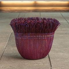 """Evening"" Mary Merkel-Hess, Contemporary Textile Basket, Sculpture"