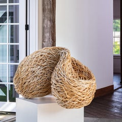 """Surface Form"" Laura Ellen Bacon, Woven Willow Abstract Sculpture"