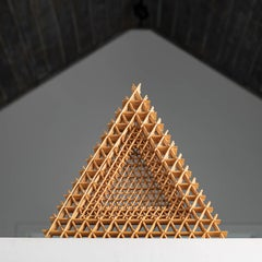 """Triangular Dish"" Dail Behennah, Abstract Geometric Willow Sculpture"