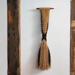 """""""El abrazo"""" Carolina Yrarrázaval, Contemporary woven textile wall sculpture"""