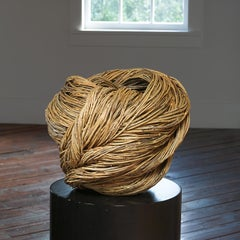 """World"" Christine Joy, Contemporary Woven Abstract Basket Sculpture"