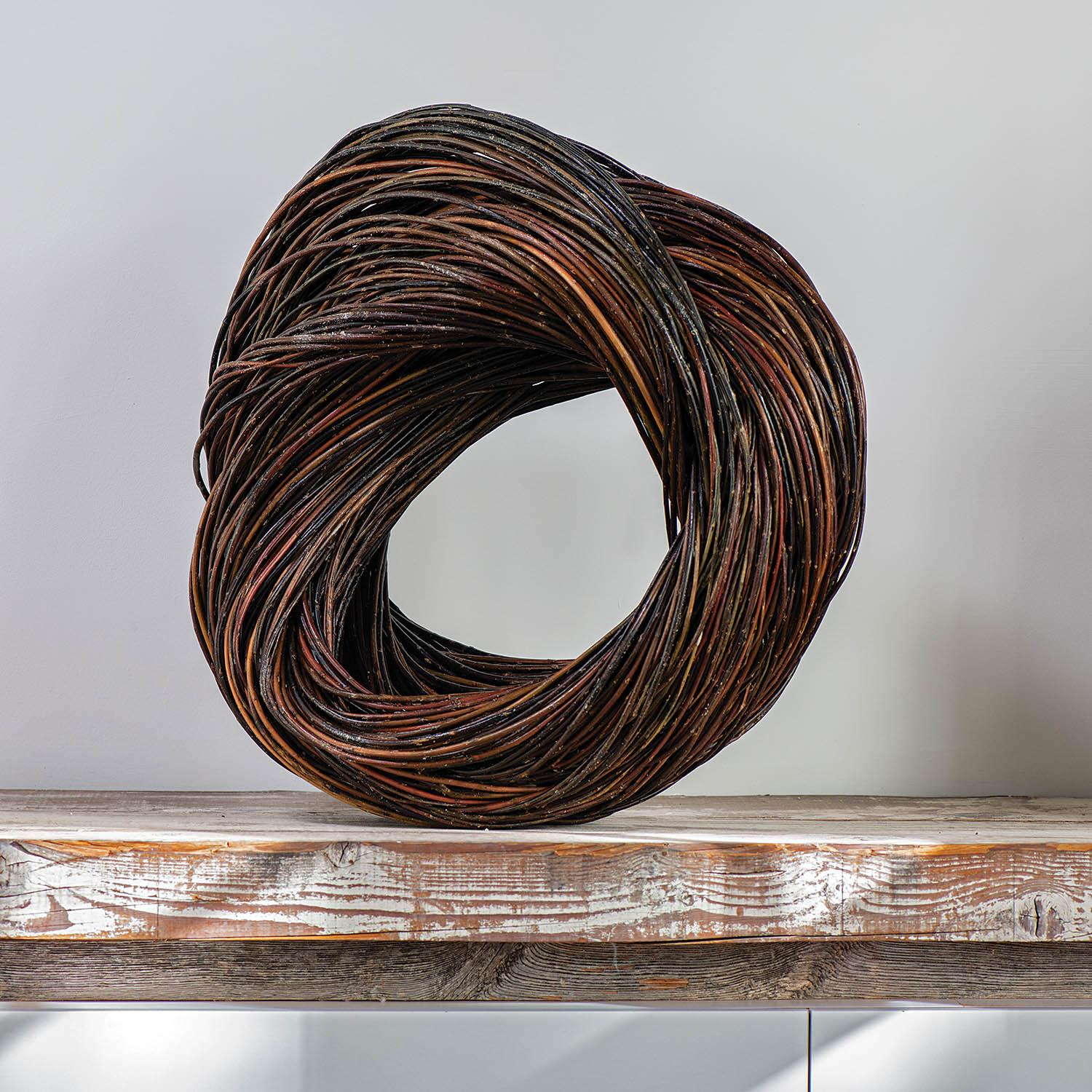"""""""Circle"""" Christine Joy, Contemporary Abstract Willow Sculpture"""