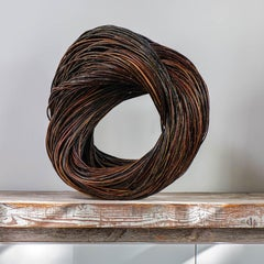 """Circle"" Christine Joy, Contemporary Abstract Willow Sculpture"
