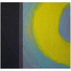 Lime Glow, Jo Barker, Colorful Contemporary Woven Tapestry