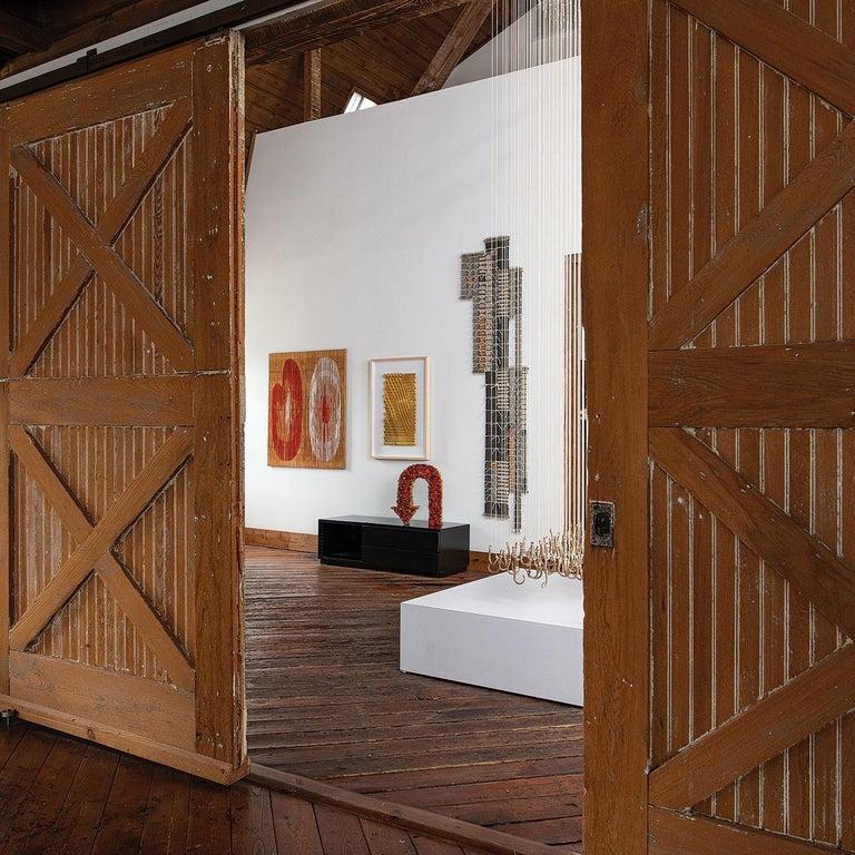 Record, Blair Tate, Geometric woven textile wall sculpture - Abstract Geometric Sculpture by Blair Tate
