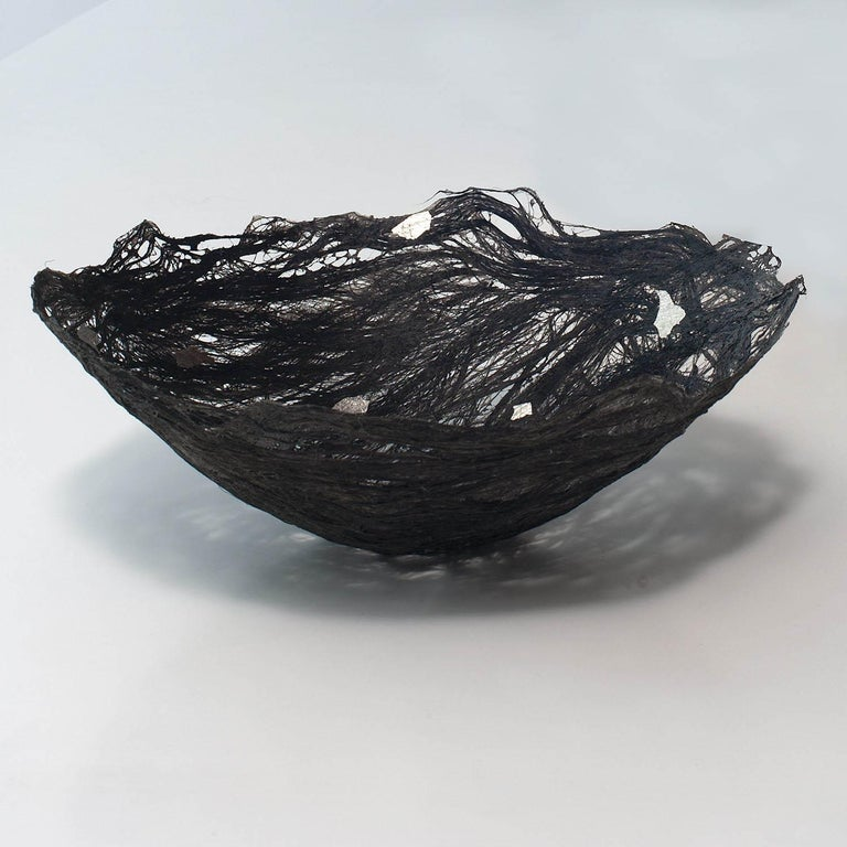 Silver Metallic, Contemporary Textile Sculpture/Vessel by Kay Sekimachi For Sale 1
