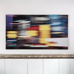 Times 6, Contemporary Abstract Textile Wall Hanging by Grethe Sørensen