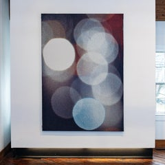 Headlights 2, Contemporary Abstract Textile Wall Hanging by Grethe Sørensen