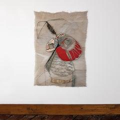 B'Still Life, Contemporary Textile Wall Hanging by Anda Klancic