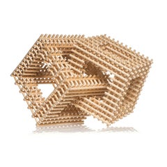 Intersecting Cubes, Dail Behennah, Abstract Geometric Willow Sculpture