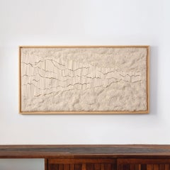 Ondes by Simone Pheulpin, Contemporary Textile Wall Sculpture