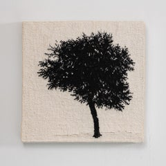 Journey Trees III, Sara Brennan, hand-woven textile wall sculpture