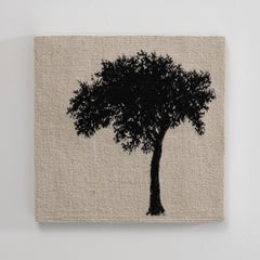 Journey Trees IV, Sara Brennan, hand-woven textile wall sculpture