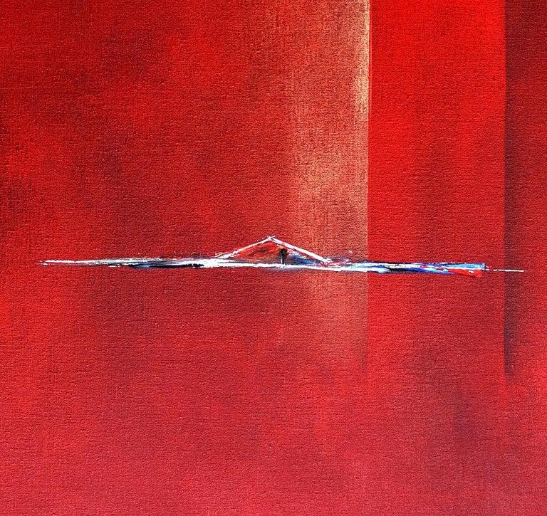 Dutch Landscape Red I For Sale 1