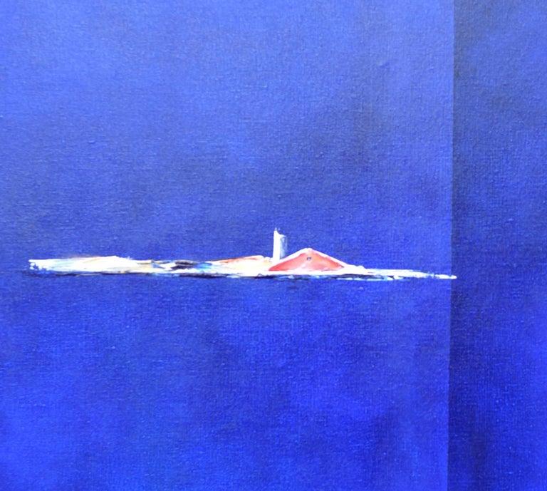 Dutch Landscape Blue  - Painting by Paula Evers