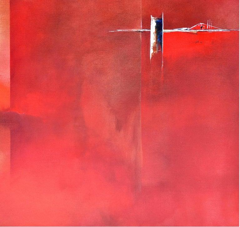 Dutch Landscape Red II For Sale 1