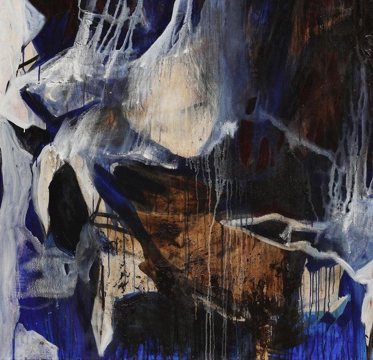 Look at me - Black Animal Painting by Gala Csaky