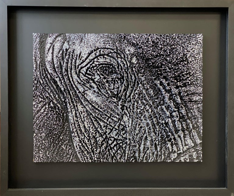 Yann C Animal Painting - Silver Look - Elephant Representation