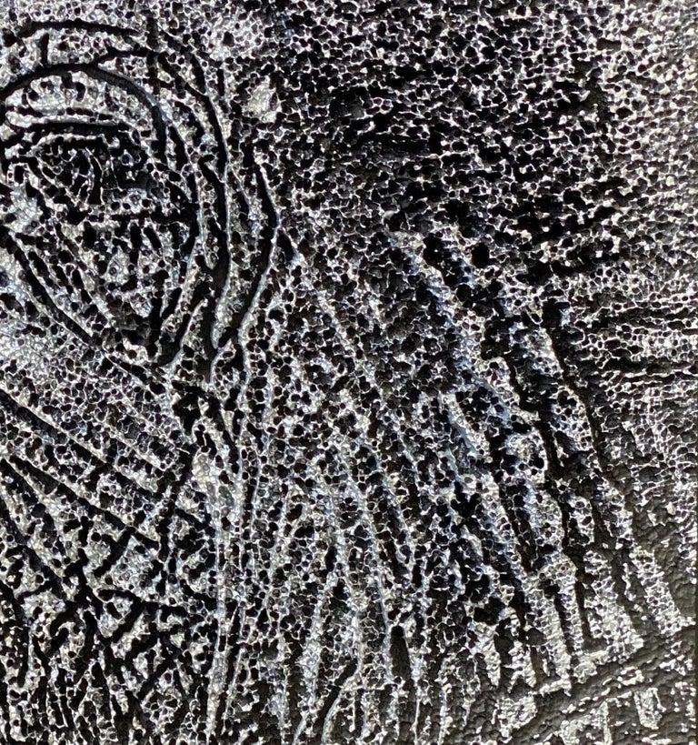 Silver Look - Elephant Representation - Pop Art Painting by Yann C