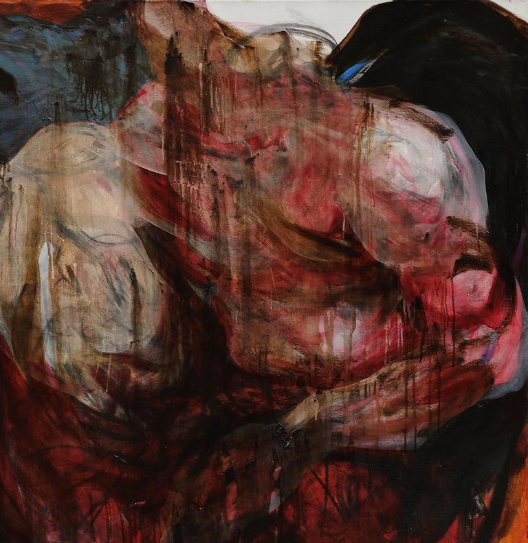 Don't give yourself to anyone - Neo-Expressionist Painting by Gala Csaky