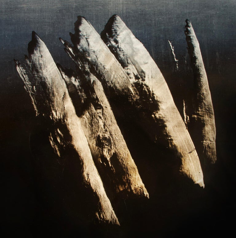 Syndactyly - Contemporary Abstract Oil Painting - Black Interior Painting by Alexandre Valette