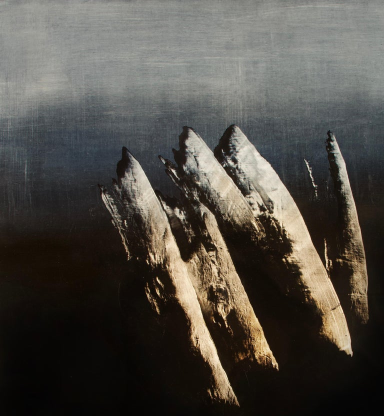 Syndactyly - Contemporary Abstract Oil Painting For Sale 4