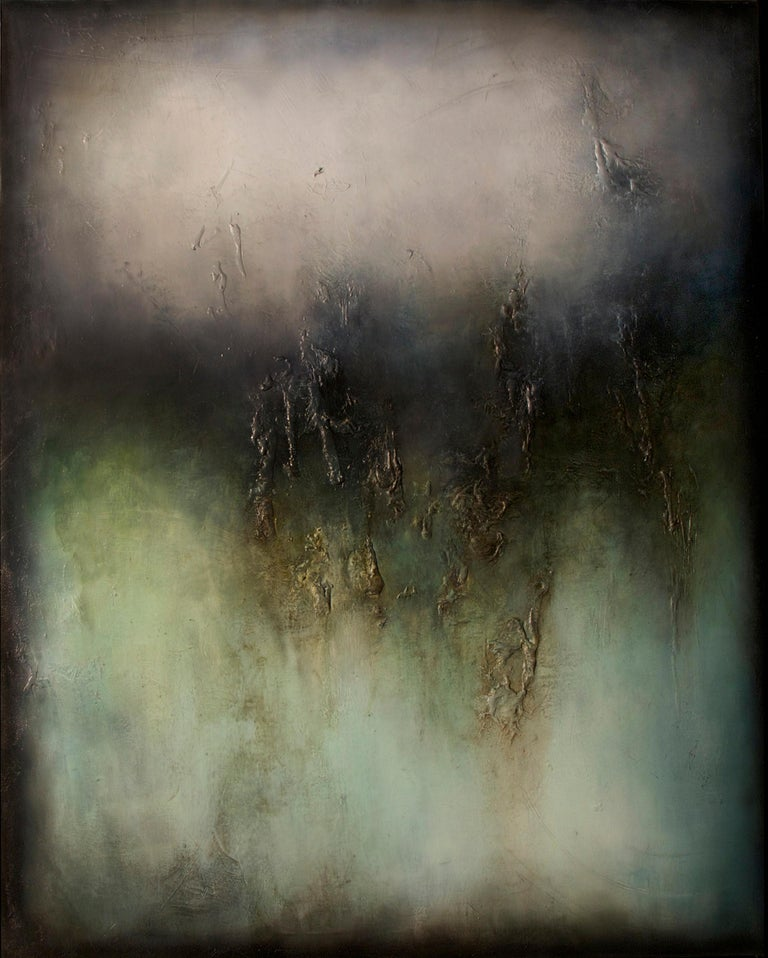 Alexandre Valette Abstract Painting - Nocturne II, Contemporary Abstract Oil Painting