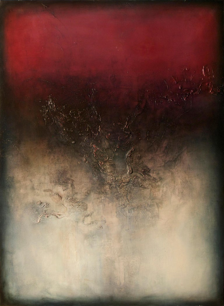 Alexandre Valette Abstract Painting - Nocturne IV, Contemporary Abstract Oil Painting