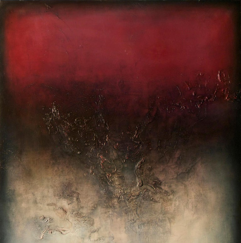 Nocturne IV, Contemporary Abstract Oil Painting - Brown Abstract Painting by Alexandre Valette