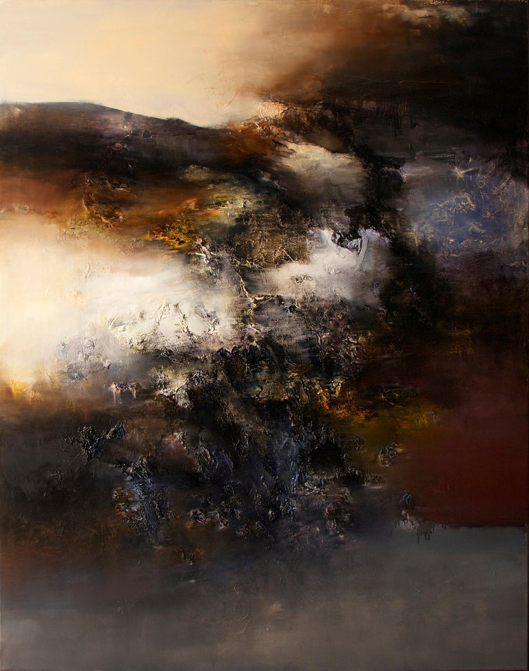 Alexandre Valette Interior Painting - Automne I, Contemporary Abstract Oil Painting