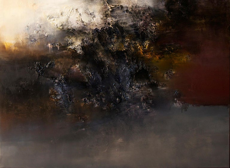 Automne I, Contemporary Abstract Oil Painting For Sale 1