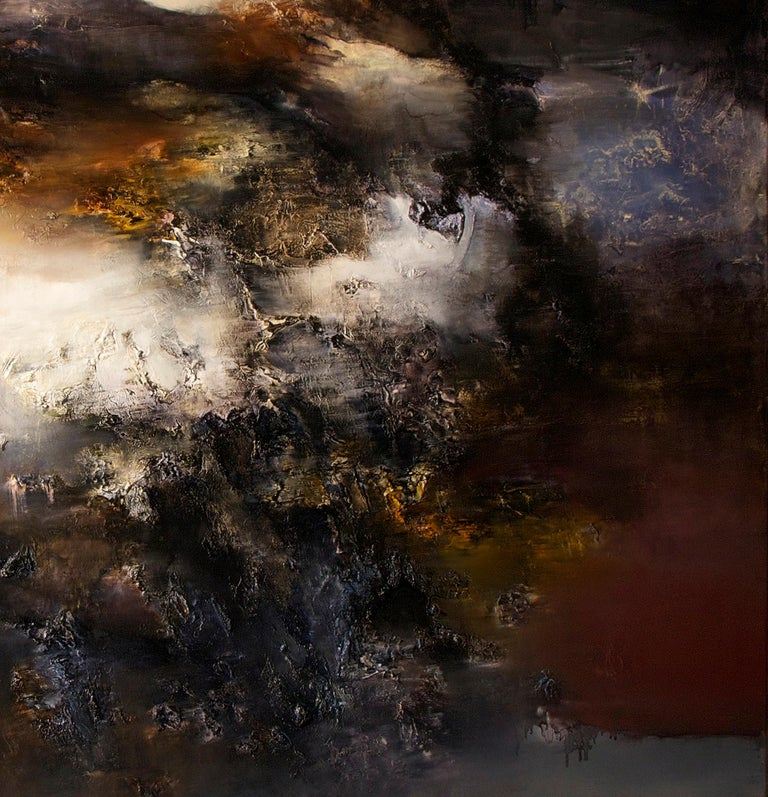 Automne I, Contemporary Abstract Oil Painting For Sale 3