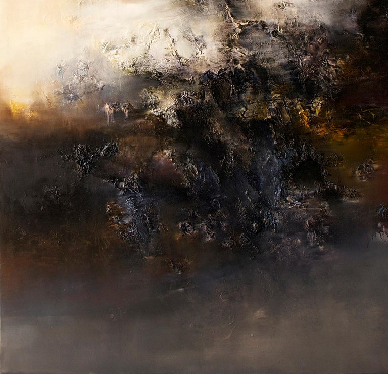 Automne I, Contemporary Abstract Oil Painting For Sale 4
