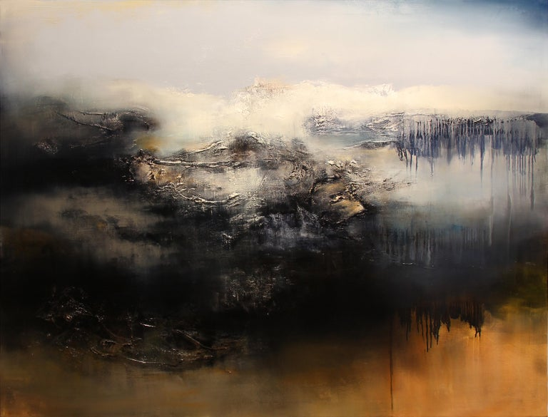 Alexandre Valette Interior Painting - Le Gris, Contemporary Abstract Oil Painting