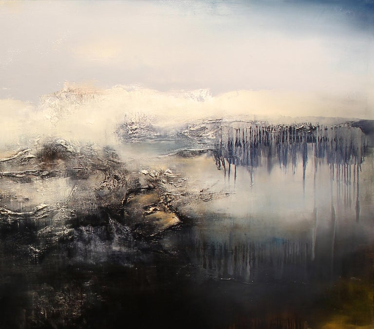 Le Gris is a Contemporary Abstract Oil Painting by Alexandre Valette who has a master degree in Art History and is a complete artist, influenced by the work of the great masters. He explores from a young age drawing through the human anatomy and