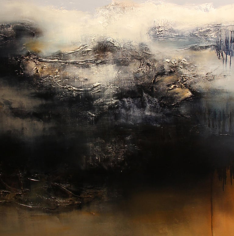 Le Gris, Contemporary Abstract Oil Painting For Sale 1