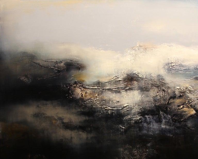 Le Gris, Contemporary Abstract Oil Painting For Sale 2
