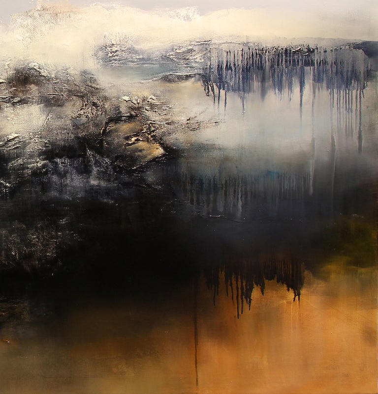 Le Gris, Contemporary Abstract Oil Painting For Sale 3