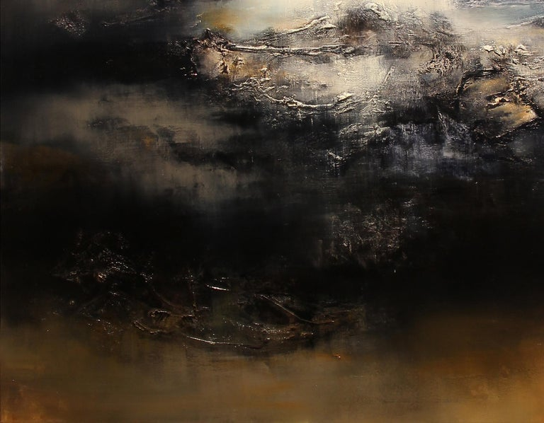 Le Gris, Contemporary Abstract Oil Painting For Sale 4