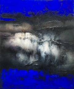 Nocturne Outremer, Contemporary Abstract Oil Painting