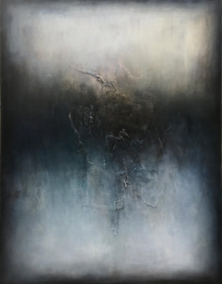 Alexandre Valette Abstract Painting - Nocturne VI, Contemporary Abstract Oil Painting