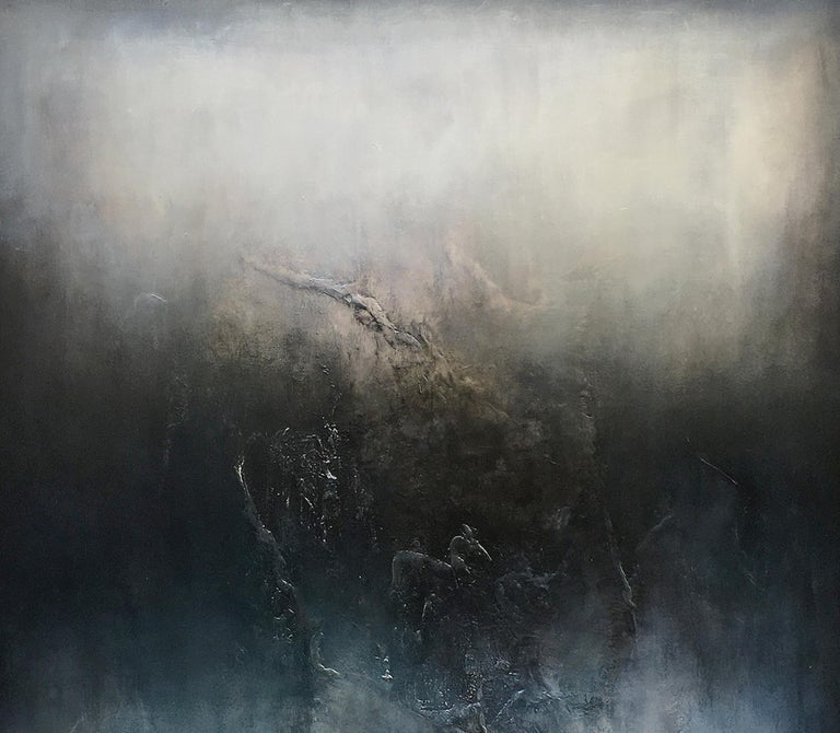 Nocturne VI, Contemporary Abstract Oil Painting - Black Abstract Painting by Alexandre Valette