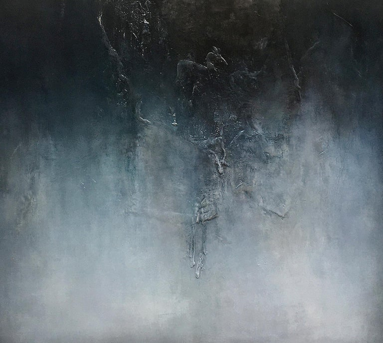 Nocturne VI is a Contemporary Abstract Oil Painting by Alexandre Valette who has a master degree in Art History and is a complete artist, influenced by the work of the great masters. He explores from a young age drawing through the human anatomy and