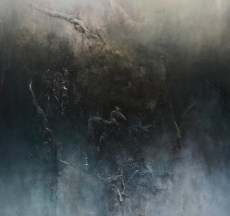 Nocturne VI, Contemporary Abstract Oil Painting For Sale 2