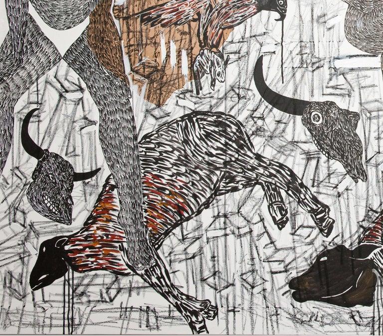African Contemporary Art - Pacte Mystique For Sale 1