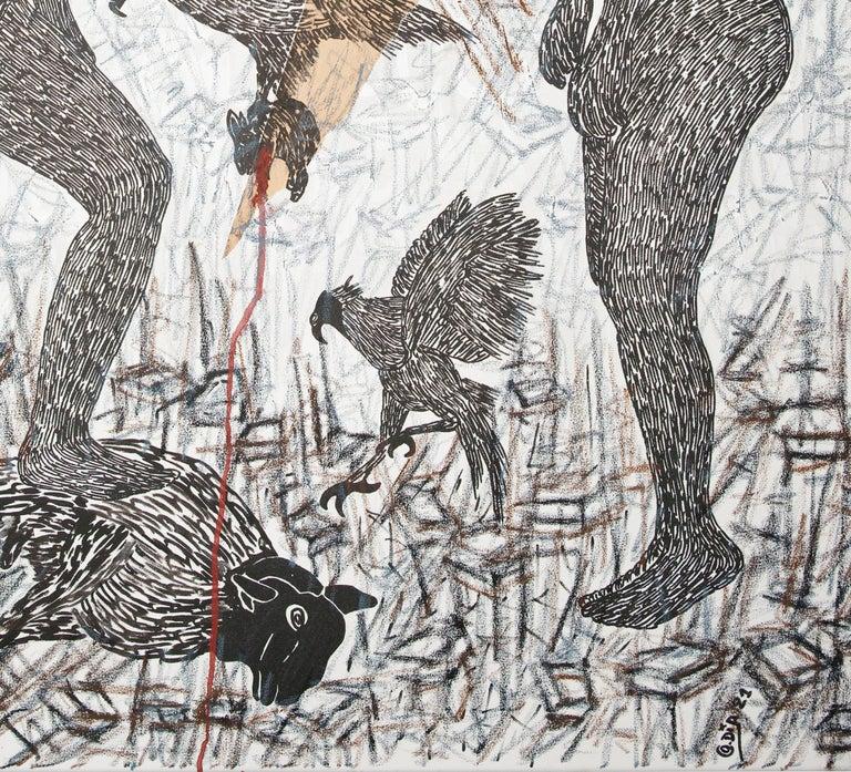 Pacte Mystique  II - African Contemporary Art For Sale 1