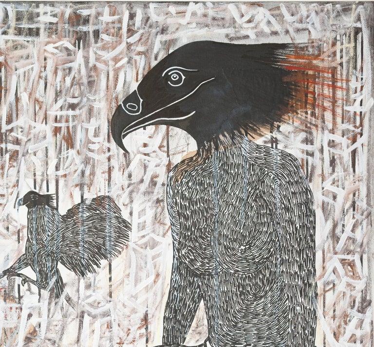 Scène de Sacrifice II - African Contemporary Art - Painting by Ousmane Dia