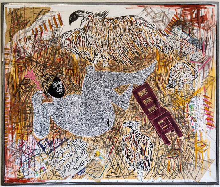 Ousmane Dia Figurative Painting - African Contemporary Art - Dame Justice II